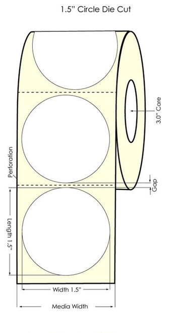 "Primera LX900 1.5"" Circle High Gloss Labels"