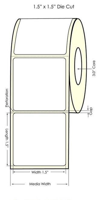 "Primera LX900 1.5"" x 1.5"" High Gloss Labels"
