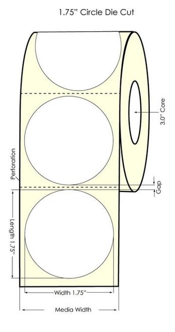 "Primera LX900 1.75"" Circle High Gloss Labels"