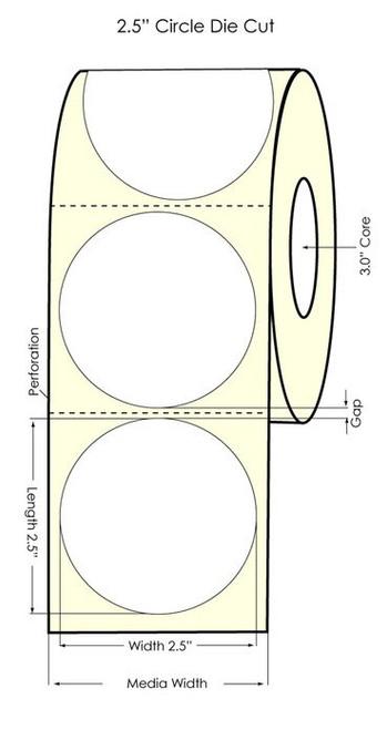 "Primera LX900 2.5"" Circle High Gloss Labels"