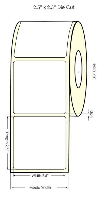 "Primera LX900 2.5"" x 2.5"" NP High Gloss Labels"