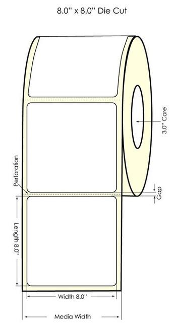 "Primera LX900 8"" x 8"" High Gloss Labels"