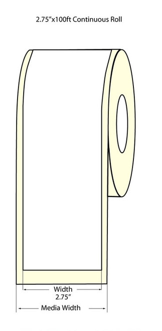 "Epson TM-C3500 2.75"" High Gloss Label Roll 100 Feet | Epson Media 811038"