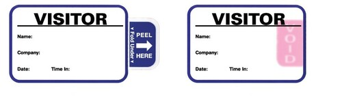 "VisitorPass 3""x2"" TAB Expiring LX900/LX1000/LX2000 Inkjet Name Badges (VIJT3-RL-3)"