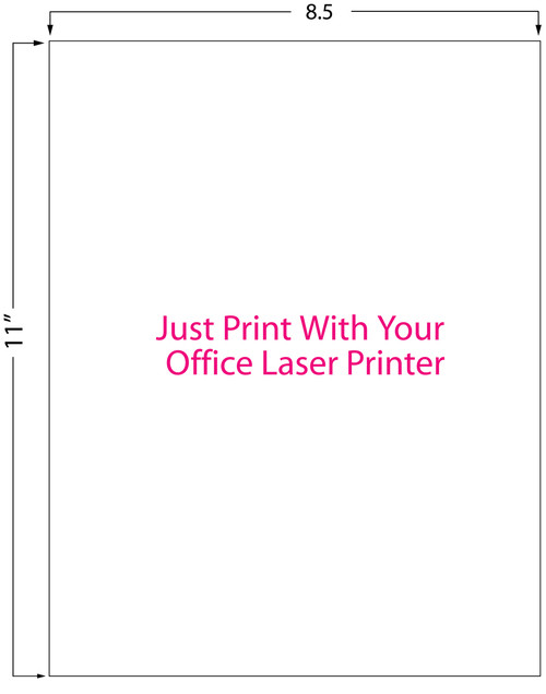 "Inkjet | Laser 8.5"" x 11"" Matte Sheet Label 200/Pack (697003)"