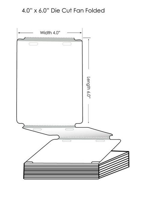 "Inkjet 4""x6"" High Gloss Name Tag w 2 holes (Fan-Folded) 500/Carton"