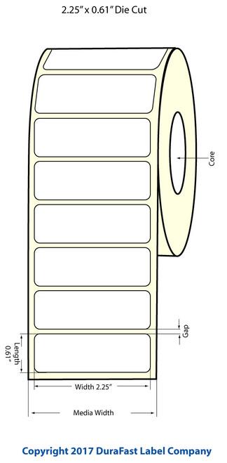 """Epson TM-C3500 2.25"""" x 0.61"""" NP Matte BOPP Labels"""