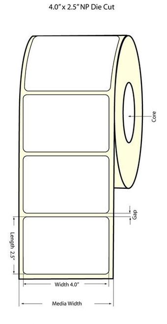 "Epson TM-C3500 4"" x 2.5"" NP Chemical Labels"