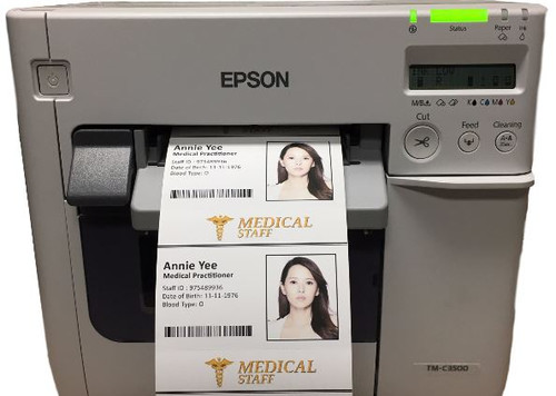Epson TM-C3500 Color Name Badge Printer | Badge Maker