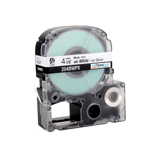 "Epson 204BWPX 1/6"" White Glossy Polyester Label PX Tape"