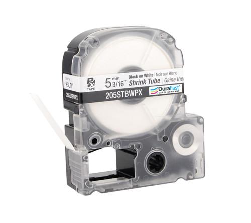 """Epson 205STBWPX 3/16"""" White Matte Heat Shrink Tube PX Tape"""