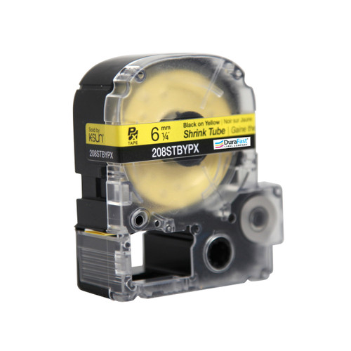 """Epson 208STBYPX 1/4"""" Yellow Matte Heat Shrink Tube PX Tape"""