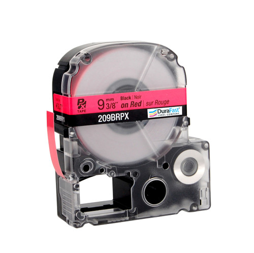 "Epson 209BRPX 3/8"" Red Glossy Polyester Label PX Tape"