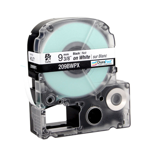 """Epson 209BWPX 3/8"""" White Glossy Polyester Label PX Tape"""
