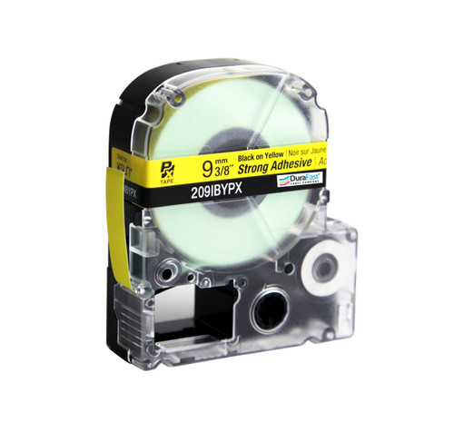 "Epson 209IBYPX 3/8"" Yellow Glossy Polyester Label PX Tape"