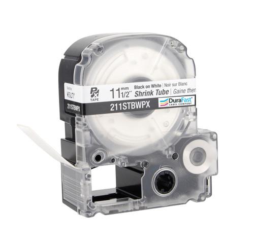 """Epson 211STBWPX 1/2"""" White Matte Heat Shrink Tube PX Tape"""