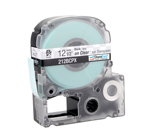 "Epson 212BCPX 1/2"" Clear Glossy Polyester Label PX Tape"
