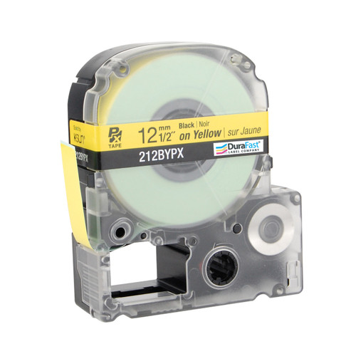 "Epson 212BYPX 1/2"" Yellow Glossy Polyester Label PX Tape"