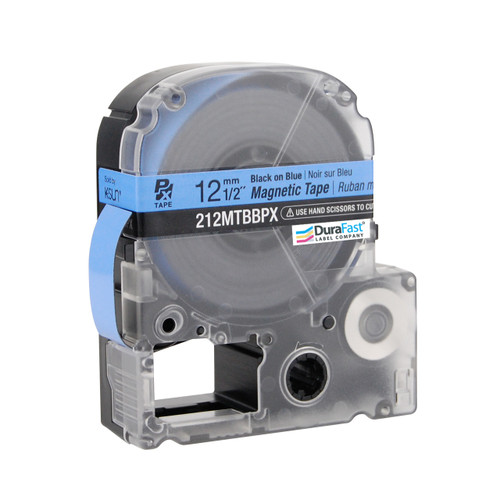 """Epson 212MTBBPX 1/2"""" Blue Glossy Magnetic PX Tape"""
