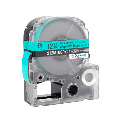 """Epson 212MTBGPX 1/2"""" Green Glossy Magnetic PX Tape"""