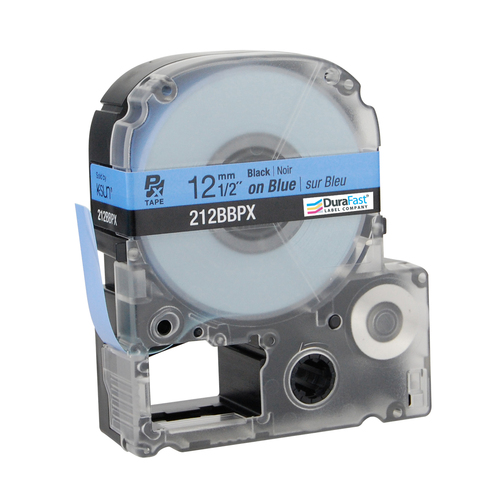 """Epson 218BBPX 3/4"""" Blue Glossy Polyester Label PX Tape"""