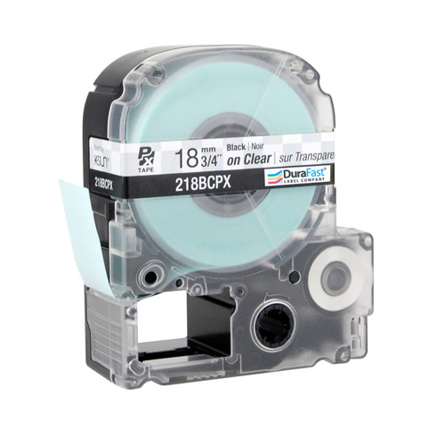 "Epson 218BCPX 3/4"" Clear Glossy Polyester Label PX Tape"