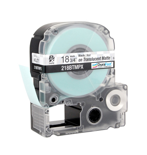 "Epson 218BTMPX 3/4"" Translucent Matte Polyester Label PX Tape"