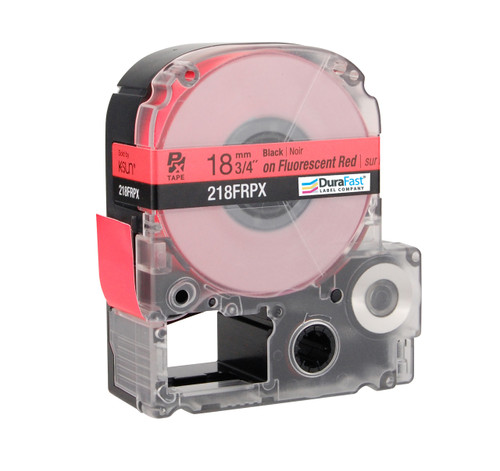 "Epson 218FRPX 3/4"" Red Glossy Flourescent Label PX Tape"