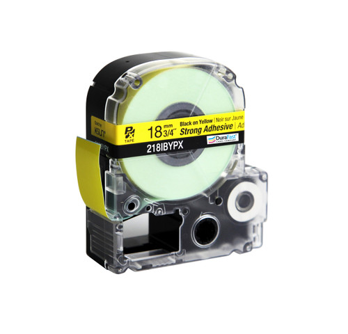"""Epson 218IBYPX 3/4"""" Yellow Glossy Polyester Label PX Tape"""