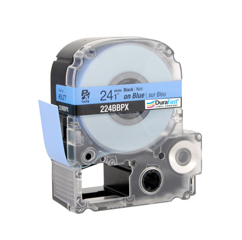 "Epson 224BBPX 1"" Blue Glossy Polyester Label PX Tape"