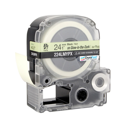 "Epson 224LMYPX 1"" Green Glossy Glow-in-the-Dark Label PX Tape"