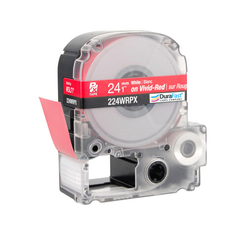 "Epson 224WRPX 1"" Red Glossy Polyester Label PX Tape"