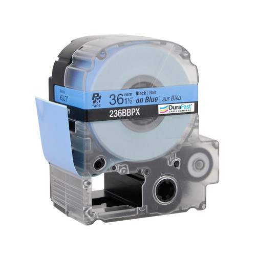 """Epson 236BBPX 1 1/2"""" Blue Glossy Polyester Label PX Tape"""
