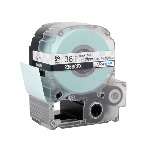 """Epson 236BCPX 1 1/2"""" Clear Glossy Polyester Label PX Tape"""