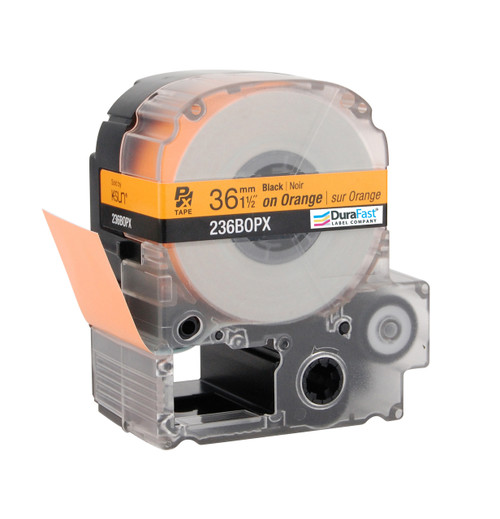 "Epson 236BOPX 1 1/2"" Orange Glossy Polyester Label PX Tape"