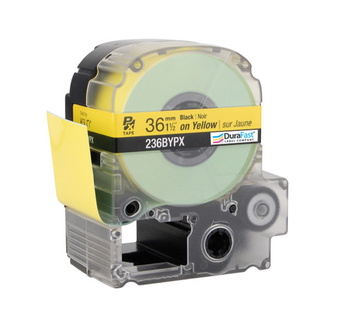 "Epson 236BYPX 1 1/2"" Yellow Glossy Polyester Label PX Tape"