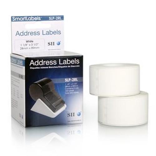 Seiko SLP620/650 1.125 x 3.5 White Address Labels SLP-2RL