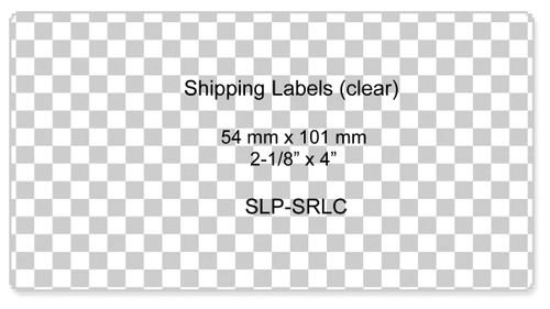 Seiko SLP620/650 2.125 x 4 Clear Shipping Labels SLP-SRLC