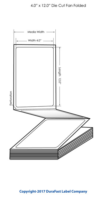 "Inkjet 4"" x 12"" Matte Name Tag (Fan Folded) 500/Carton"