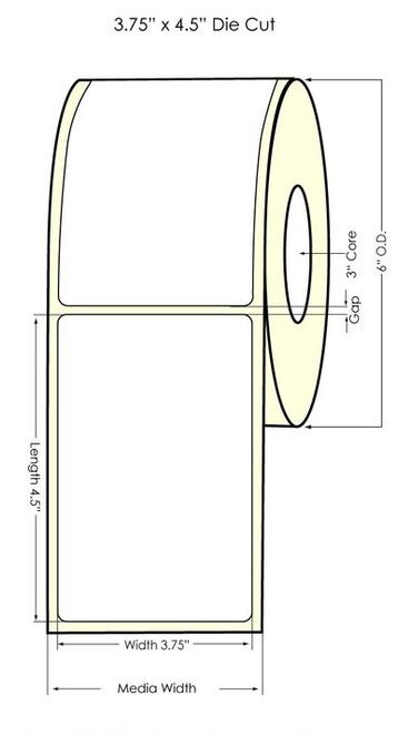 "TM-C7500G 3.75"" x 4.5"" NP Clear Glossy BOPP Label 425/Roll"