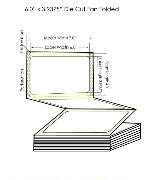 "GP-C831 6"" x 3.9375"" Chemical Labels 1800/Carton"