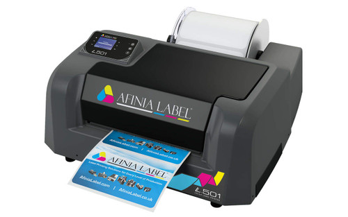 Afinia L501 Color Label Printer (Duo Inks Pigment & Dye Ink Bundle)