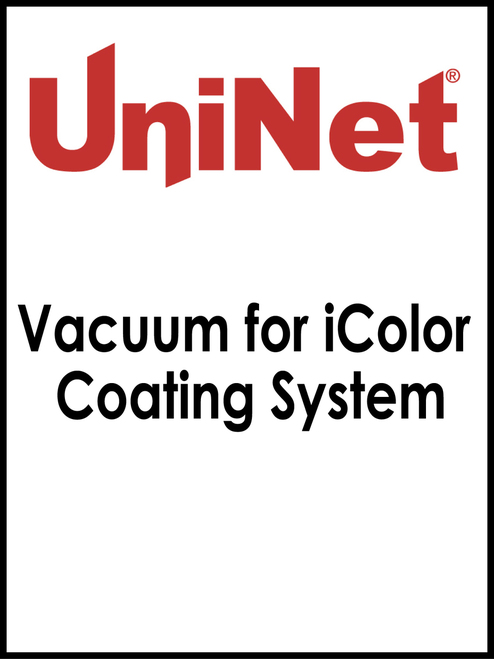 Vacuum for iColor Coating System