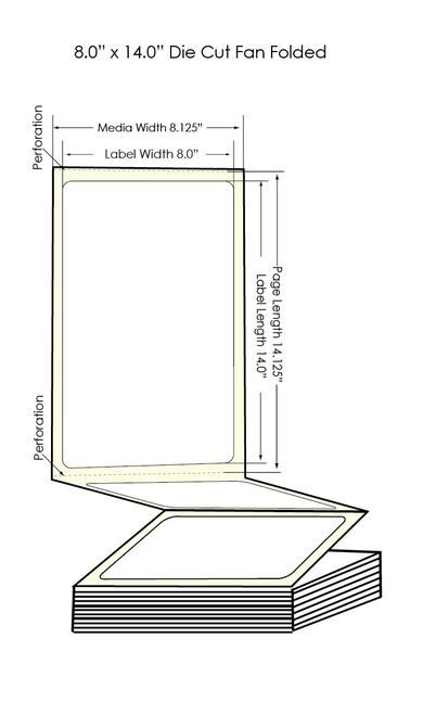 "300x - 8"" x 14"" Chemical Label 600/Carton (564001)"