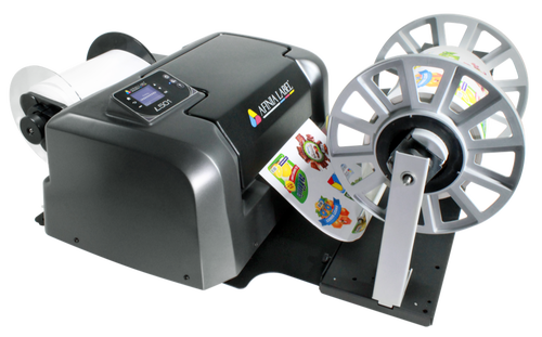 Afinia label  Rewinder  connected to Afinia L501 label printer