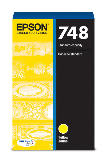 Epson WorkForce Pro 748 Standard Capacity Yellow Ink for WF-6090/6530/6590