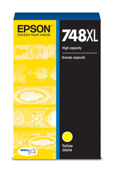 Epson WorkForce Pro 748 High Capacity Yellow Ink for WF-6090/6530/6590