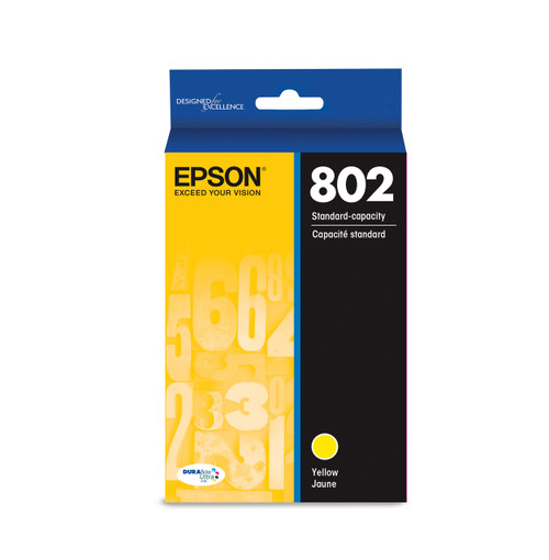 Epson T802 Yellow Ink Cartridge 650 Page Yield (T802420-S)