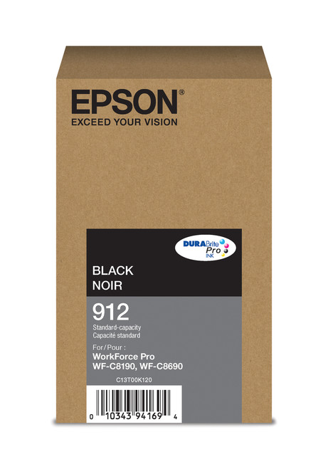 Epson WorkForce Pro T912  Standard Capacity Black Ink for WF-C8190/C8690