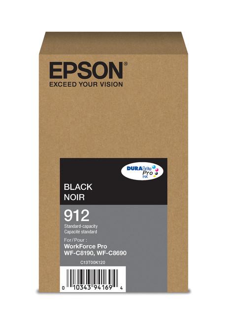 Epson WorkForce Pro T912  Standard Capacity Black Ink for WF-C8190/C8690